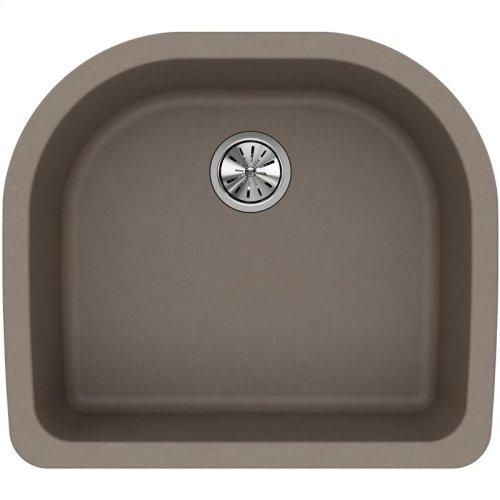 "Elkay Quartz Classic 25"" x 22"" x 8-1/2"", Single Bowl Undermount Sink, Greige"