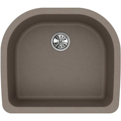 "Elkay Quartz Classic 25"" x 22"" x 8-1/2"", Single Bowl Undermount Sink, Greige"