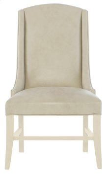 Slope Leather Arm Chair in Chalk