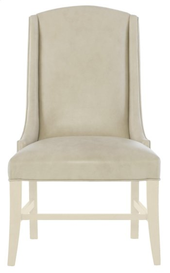 Slope Leather Arm Chair in Chalk Product Image