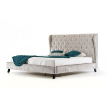 Modrest Sheba Light Grey Fabric Bed