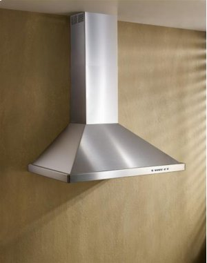 """42"""" Brushed Stainless Steel Wall Mount Chimney Hood with Internal 300 CFM Blower"""