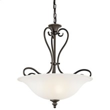 Tanglewood 3 Light Halogen Inverted Pendant with LED Bulbs Olde Bronze®