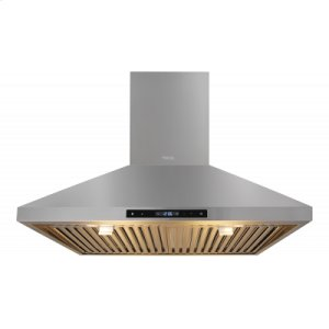 Thor Kitchen30in Wall Mount Chimney Range Hood In Stainless Steel With LED Lights, Touch Control With Display and Remote Control