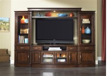 Entertainment Center with Piers Set