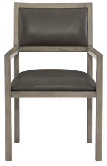 Mitcham Leather Arm Chair in Rustic Gray