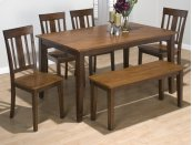 Kura Canyon Dining Table With 4 Chairs and Bench