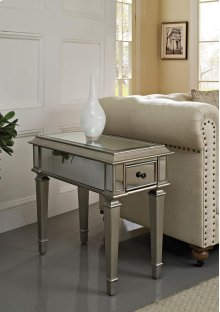 Silver Mirrored Side Table