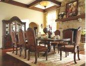 North Shore - Dark Brown 10 Piece Dining Room Set