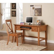 "Oslo Writing Desk, Oak 54""x28""x30"""
