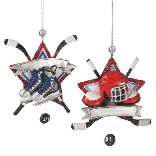 Hockey Ornament (2 asstd).