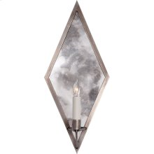 Visual Comfort NW2120AN Niermann Weeks Regent 1 Light 8 inch Antique Nickel with Antique Mirror Sconce Wall Light, Niermann Weeks, Diamond