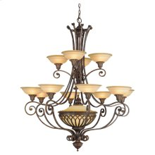 12 - Light Multi-tier Chandelier