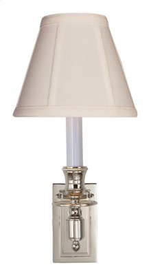 Visual Comfort S2210PN-T Studio French 1 Light 6 inch Polished Nickel Decorative Wall Light in Tissue Silk