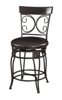 Big and Tall Back to Back Scroll Counter Stool