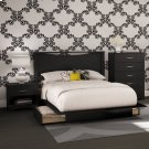 4-Piece Bedroom Set, Full - Pure Black Product Image