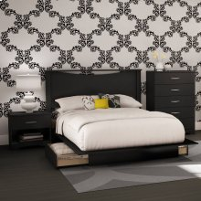 4-Piece Bedroom Set - Pure Black