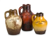 Vino Rosa Terracotta Vases with Handle - Set of 3