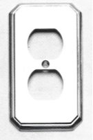 Duplex Receptacle Traditional Switchplate - Solid Brass in SB (Shaded Bronze, Lacquered) Product Image