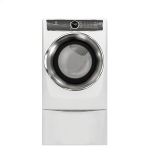 Front Load Perfect Steam Electric Dryer with PredictiveDry and Instant Refresh - 8.0. Cu. Ft. - WHITE