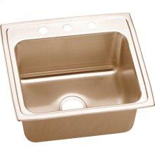 "Elkay CuVerro Antimicrobial Copper 22"" x 19-1/2"" x 10-1/8"", Single Bowl Drop-in Sink"