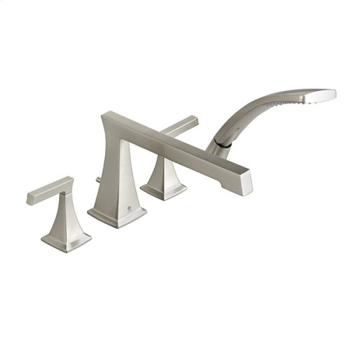Keefe Deck Mount Bathtub Faucet with Hand Shower - Brushed Nickel