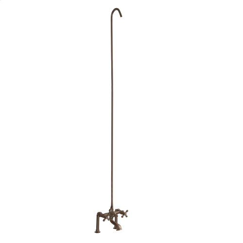 Tub/Shower Converto Unit - Elephant Spout, Cross Handles - Brushed Nickel