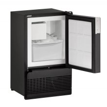 """Marine Series 14"""" Marine Crescent Ice Maker With Black Solid Finish and Field Reversible Door Swing (220-240 Volts / 50 Hz)"""