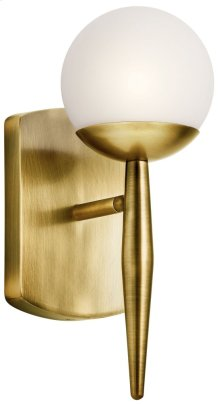 Jasper 1 Light Halogen Wall Sconce Natural Brass