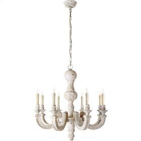 Visual Comfort AH5025BW Alexa Hampton Dexter 8 Light 26 inch Belgian White Chandelier Ceiling Light in (None)