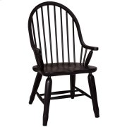 Bow Back Arm Chair - Black Product Image