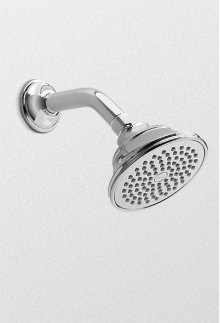 Brushed Nickel Traditional Collection Series A Single-spray Showerhead .0 gpm