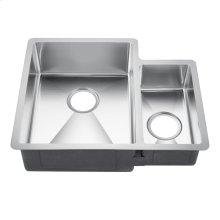 """Fennel Double Bowl Stainless Kitchen Sink - 24"""" - Stainless Steel"""