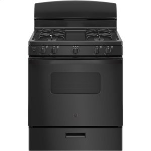"""GE®30"""" Free-Standing Front Control Gas Range"""