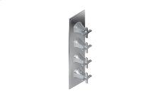 Finezza UNO Thermostatic 4-Hole Trim Plate and Handle