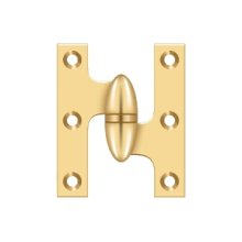 "2 1/2"" x 2"" Hinge - PVD Polished Brass"