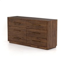 Heritage Brown Finish Suki 6 Drawer Dresser