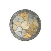 Sagrada Round Plant Stands w/ Ceramic Tile Top & Iron Base - Set of 3