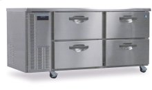 Freezer, Two Section Worktop with Drawers