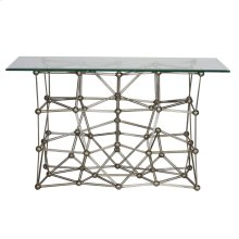 Silver Leaf Iron Console Table Base Only