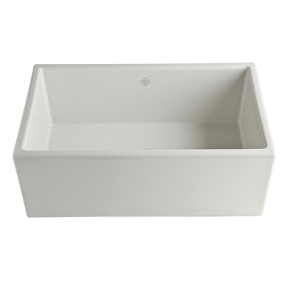 Parchment Shaws Classic Shaker Modern Single Bowl Apron Front Fireclay Kitchen Sink