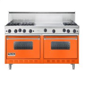 """Pumpkin 60"""" Open Burner Commercial Depth Range - VGRC (60"""" wide, six burners 24"""" wide griddle/simmer plate)"""