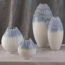 Cut Carved Vase-Cloud-Lg