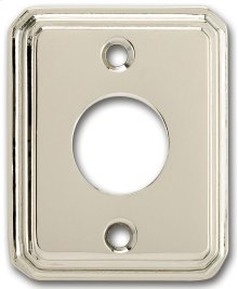 Traditional Rectangular Surface Mounted Rose in (Traditional Rectangular Surface Mounted Rose - Solid Brass)