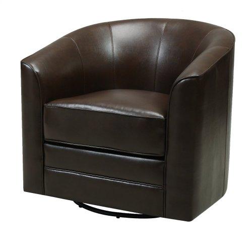 Emerald Home Milo Swivel Chair Dark Brown U5029c-04-55