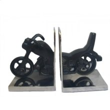 Bike Style Bookends Set
