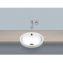Semi-recessed basin