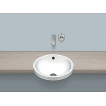 Semi-recessed basin