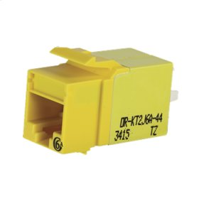 Category 6a Keystone Jack, Lacing Cap Termination, Yellow