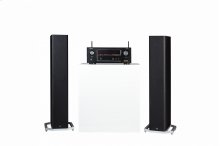Two BP9020 tower speakers and a Denon AVR-X2400H receiver
